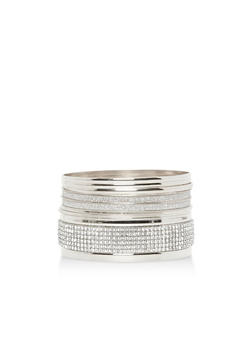 Metallic Rhinestone Glitter Bracelet Set - 3194003201619