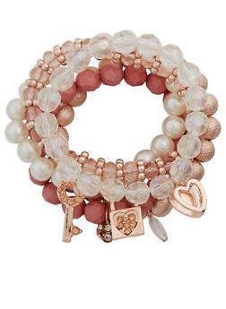 Set of 5 Assorted Beaded Bracelets - 3194035150376