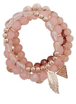 Set of 5 Assorted Beaded Bracelets - 3194035152342