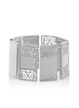 Textured Metallic and Glitter Bracelet - 3194035152731