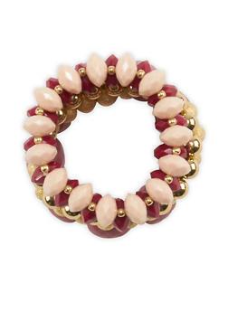 Chunky Beaded Stretch Bracelets - 3194035155237