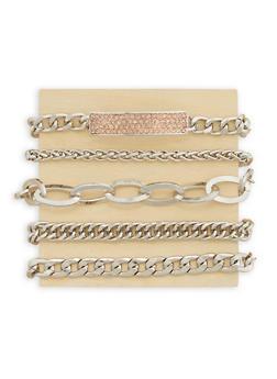 Set of 5 Chain Bracelets - 3194035155903