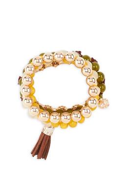 Set of 5 Beaded Bracelets - 3194035156416