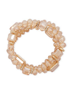 Set of 3 Stretch Bracelets with Varied Beads - 3194057697482