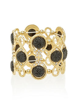 Stretch Bracelet with Varied Crystals - 3194059634305