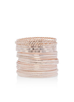 Plus Size Textured Bangles Set - 3194062817072