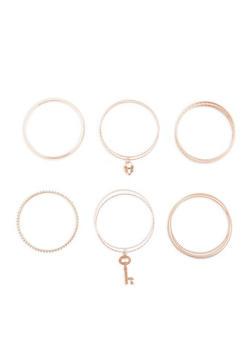 Rhinestone Glitter Charm Bracelets Set of 12 - 3194062927607