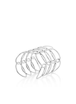 Metallic Loop Cuff Bracelet - 3194062928657