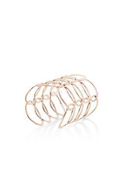 Metallic Loop Cuff Bracelet - 3194062928657