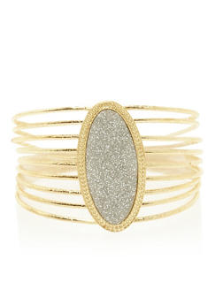 Bangle with Glitter Oval - 3194072691752