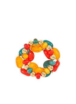 Beaded Stone Stretch Bracelets - 3194072692826