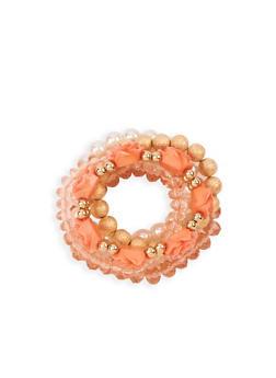 Rose Beaded Stretch Bracelets - 3194072696564