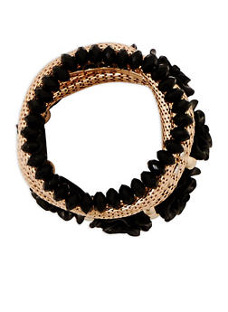 Set of 6 Assorted Stretch Bracelets - 3194072699788