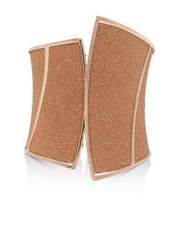 Asymmetrical Glitter Cuff Bracelet - 3194074176192