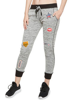 Space Dye Joggers with Patches - 3291063402966