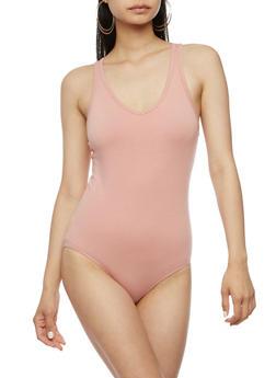 Solid Racerback Bodysuit - 3307054269407