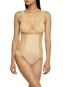 Lace Open Back Bodysuit - 3307058750059