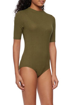 Rib Knit Bodysuit - 3307058755947