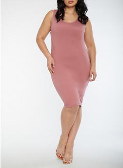 Plus Size Soft Knit Bodycon Dress - MESA ROSE - 3390060580250