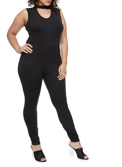 Plus Size Zip Back Jumpsuit - 3392060581250