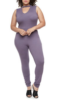 Plus Size Zip Back Jumpsuit - 3392060581250