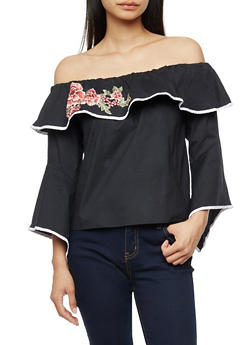 Off the Shoulder Top with Contrast Trim - 3401054213027