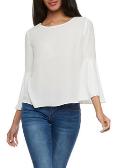 Bell Sleeve Blouse - OFF WHT - 3401054213194