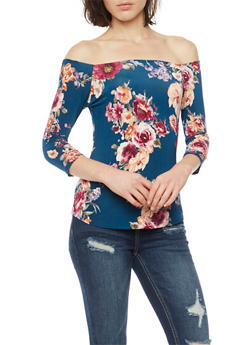 Floral Off the Shoulder Top - 3401058601381