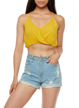 Gauze Knit Crop Top - 3401061350290