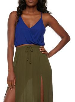 Gauze Knit Crop Top - 3401061350290