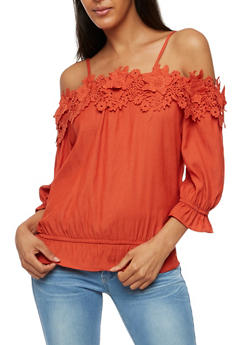 Off the Shoulder Crochet Top - 3401062705377