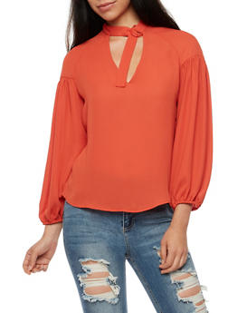 Long Sleeve Keyhole Top - 3401068191755