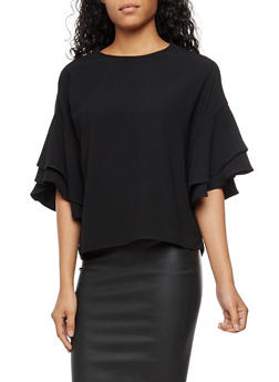 Ruffled Sleeve Blouse - 3401068192178