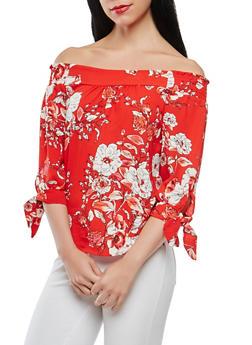Floral Off the Shoulder Top - 3401069390689