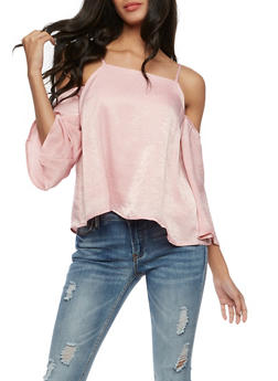 Satin Off the Shoulder Top - 3401069391141