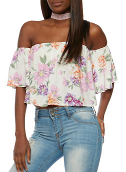 Floral Off the Shoulder Top - 3401069398293