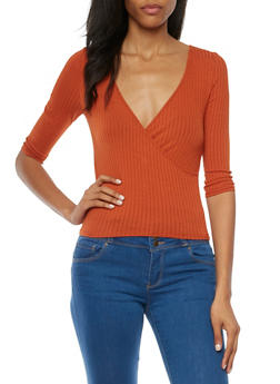 Crop Top with Wrap Front - 3402054211688