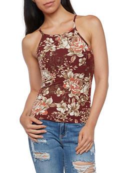 Floral Print Tank Top - 3402061353018