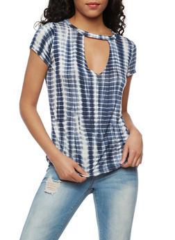 Laser Cut Tie Die T Shirt - 3402061354397