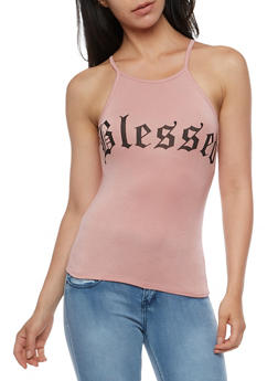 Blessed Graphic Tank Top - 3402061355301