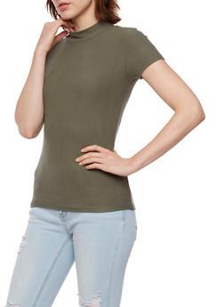 Mock Neck Top in Brushed Knit - 3402061356286