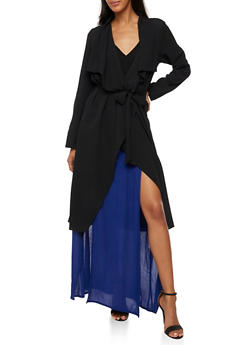 Crepe Knit Belted Duster - 3402062700854
