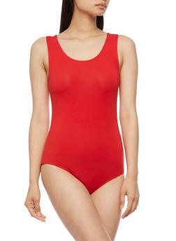 Sleeveless Bodysuit with Caged Back - 3402066491743