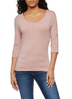 Solid Open Back Top - 3402066493058