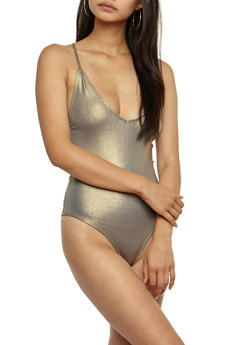 Metallic Bodysuit - 3402068192201