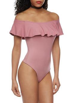 Off the Shoulder Bodysuit - 3402069398185