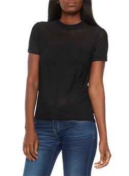 Short Sleeve Mesh T Shirt - 3402069398627