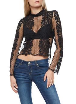 Mesh Crochet Top - 3402069398776