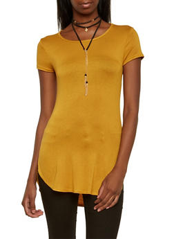 Tunic Top with Choker Necklace - 3402072245715
