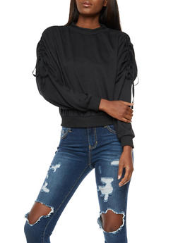 Ruched Long Sleeve Top - 3402072293030